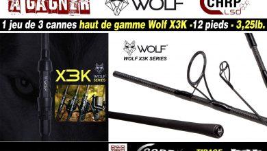 Photo de A gagner: Un jeu de 3 cannes haut de gamme Wolf X3K – 12pieds – 3,25lb (Terminé)