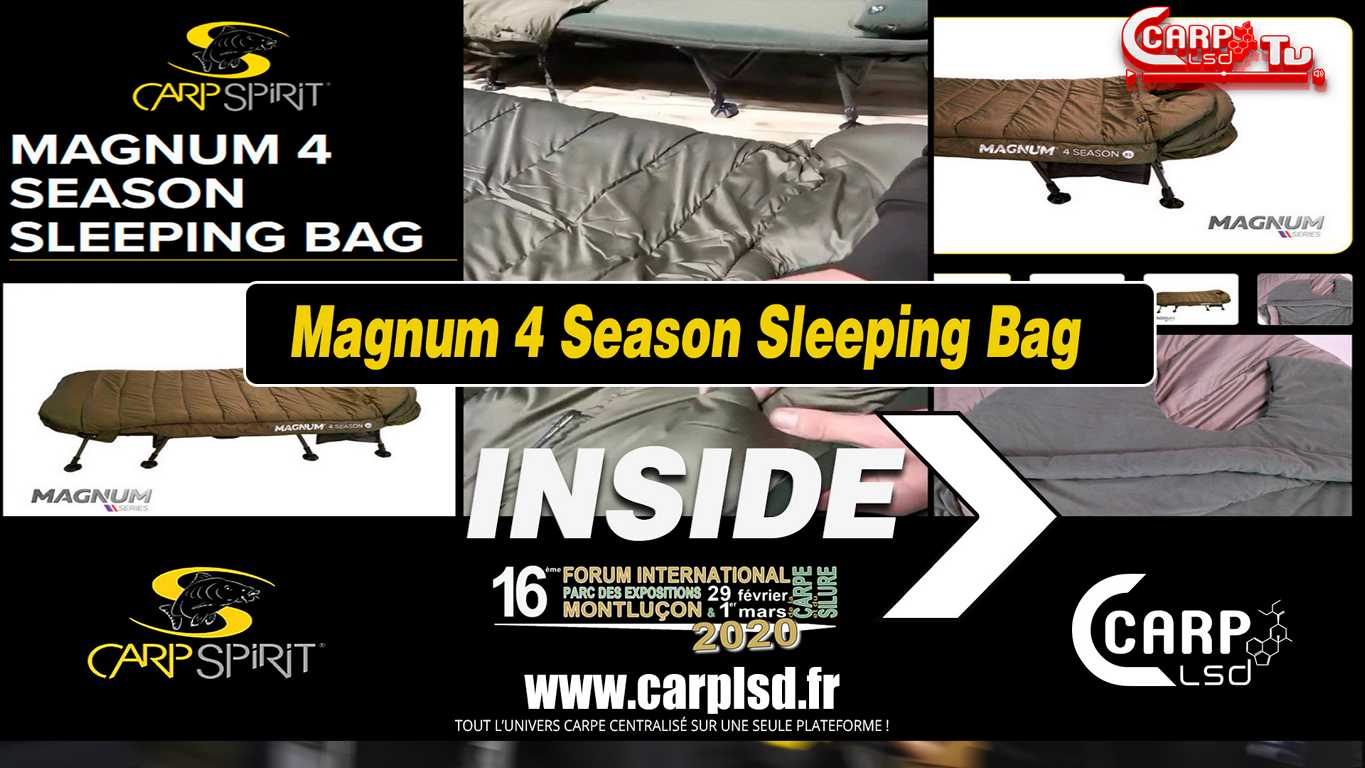 magnum 4 season sleeping bag carp spririt
