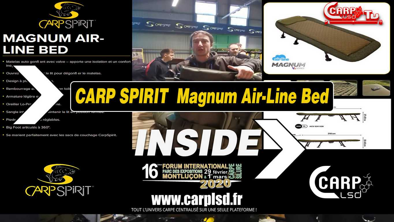 carp spririt magnum air line bed