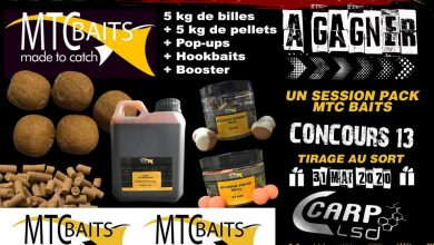 Photo de À GAGNER : UN SESSION PACK MTC BAITS (Terminé)