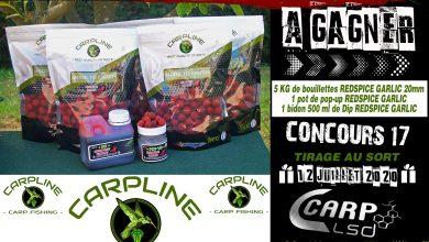 Photo de À GAGNER: Un pack de la gamme CARPLINE (Terminé)
