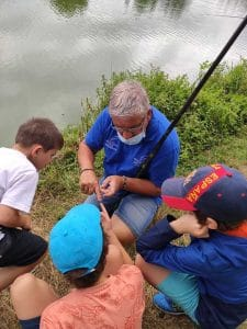 Fred Lardon Pêcheur dans les gênes